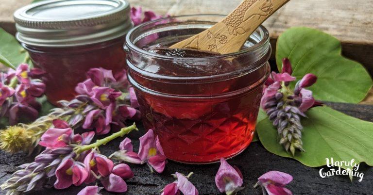 How to Make Kudzu Flower Jelly (+labels!)